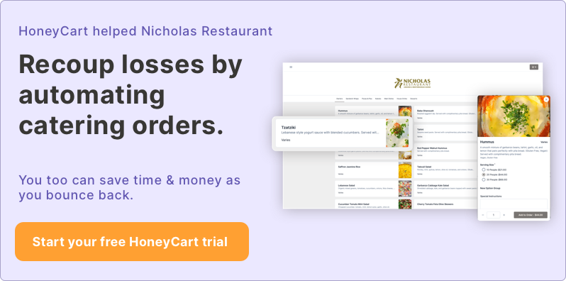 Sign up for a free trial for HoneyCart